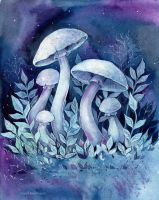 Space mushrooms by MaryIL