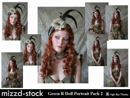 Green Rag Doll Portrait Pack 2 by mizzd-stock