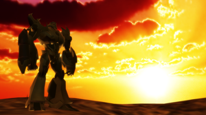 [MMD Transformers Prime] Megatron at the Sunset by DrStinger