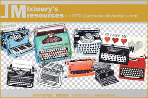 TypewriterPngs By Mixiuery by ARONEVE
