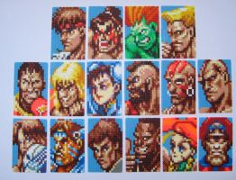 Super Street Fighter 2 - Characters - Bead Sprite by shambles-cyc