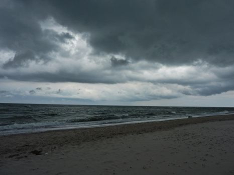 Stock Image - Stormy Beach by Life-For-Sale
