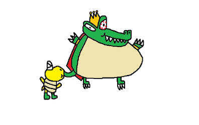 King K. Rool Being Inflated by Captain Koopa by StevenPepi