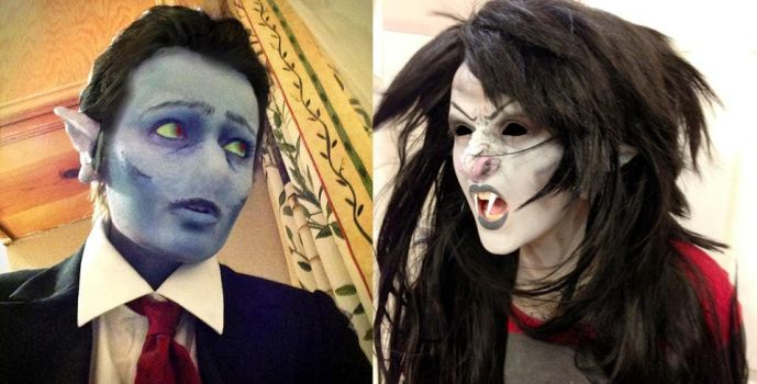 Hunson and Marceline Abadeer: Makeup Test by Hopie-chan