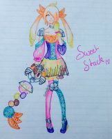 Sweet Stack Gijinka by CreamPurin