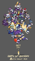 Happy 25th Birthday Meta Knight by TrippingOverStars