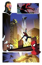 Spiderman Sample Page by Cabbral