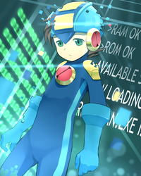 Startup Megaman.exe by FrostmanSnowman