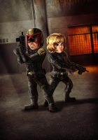 Dredd and Anderson by ryodita