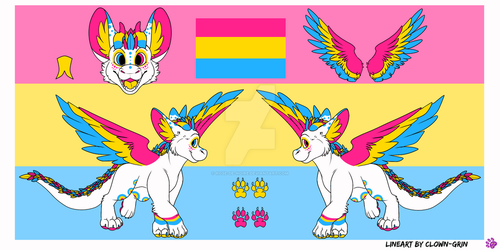 Feral Refsheet for Squimberry by Rose-de-Noire