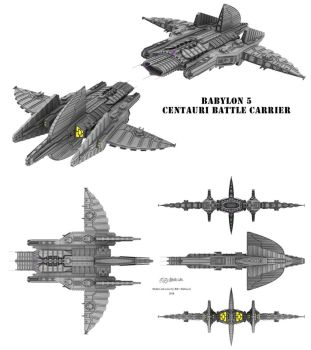 Centauri Republic - Battle Carrier by Mallacore