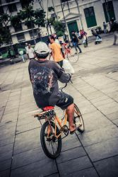 Cycling in the City of Jakarta by ankcupu