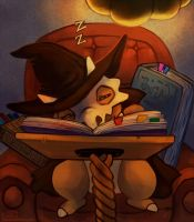 Studying is so tiring... by Haychel