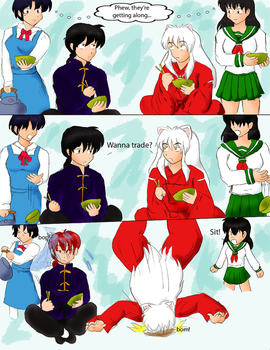 Inuyasha meets Ranma by Particularlyme
