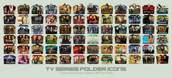 TV Series Folder Icons COMPLETE COLLECTION by call-me-special