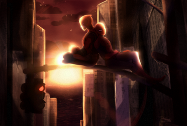 spideypool chillin' by Francchi