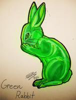Green Rabbit by TaintedTamer