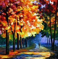September by Leonid Afremov by Leonidafremov