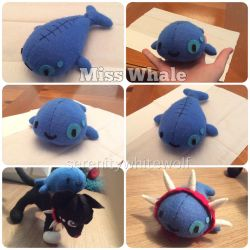 Miss Whale Plushie by PaintedSerenity