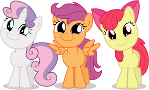 Cutie Mark Crusaders Are All Smiles by TomFraggle