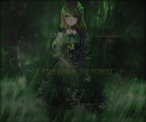 Little girl in the forest by Y-VT