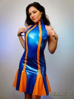 Mademoiselle Ilo - Berlingo latex dress - Model Sa by Mademoiselle-Ilo