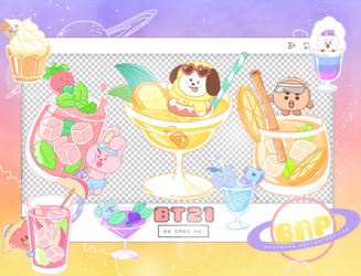 Pack Png 1381 // BT21 by BEAPANDA