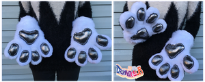 White Handpaws With Glitter Pawpads by TECHNlCOLOUR
