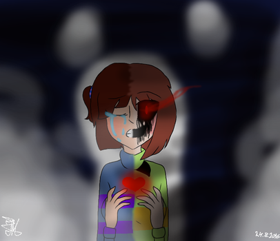 Chara and Frisk by IvonchiTheFox