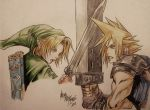 Link versus Cloud by MemoryFragment