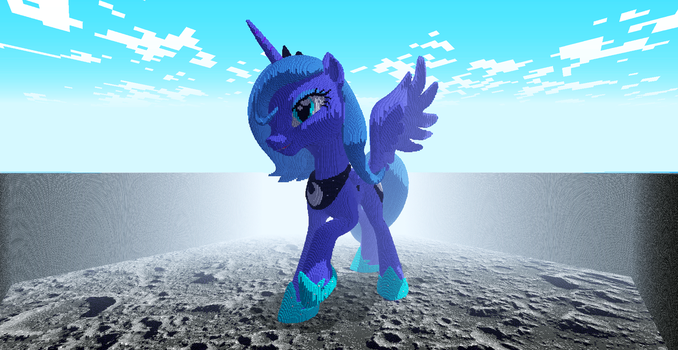 3D Luna in Minecraft by Muffinmaster19