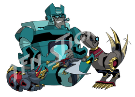 TFN sticker: kup and the dinobots by LyricaBelachium