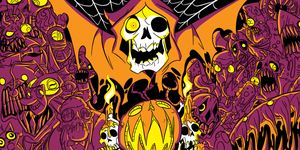 HALLOWEEN THING I DREW A MONTH AGO by MichaelJLarson