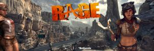 RAGE Wallpaper Dual Screen Loosum Hagar and Ginny by M1K3RU