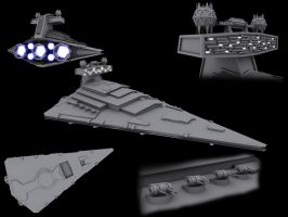 Imperial Star Destroyer WIP by Quinn-G