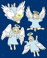 Angels We Have Herd on High by Kairu-Hakubi