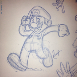 Sketching Mario by JoeCostantini