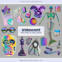 Iridescent Aesthetic PNG Pack by JJ-247