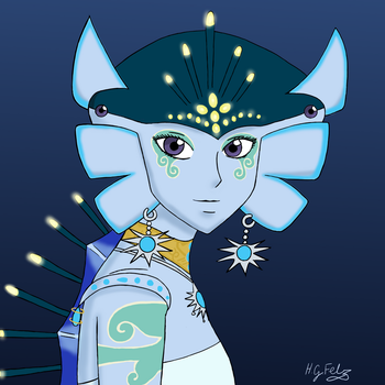 The Last Zora Queen for Rutogirl - Art Trade by HGFelz