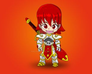 Chibi Knight by kalhaaan
