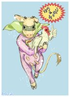 Cow and Chicken by PokeShoppe