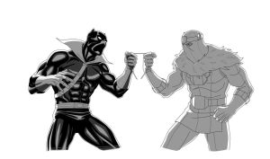 MAA: BLACK PANTHER vs BARON ZEMO by Jerome-K-Moore