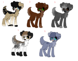 5 Point Puppy Adopts (CLOSED) by DetritusDroid