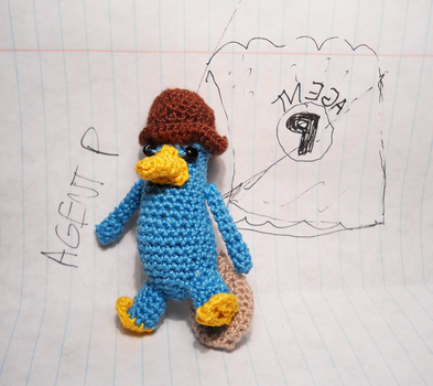 Agent P Amigurumi by TheSmall-Stuff