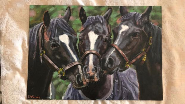 Painting of horses  by EvanMcgraneArt