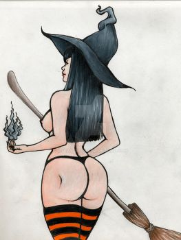 Pin-up Witch by lylah-rose