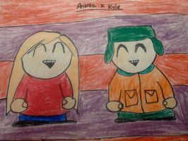 Andrea x Kyle by MewMewMinto1123