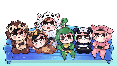 [Commission] Chibi group by miksketched