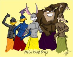 LU- Bath Towel Boyz, COLOURED by CeltiCrimson