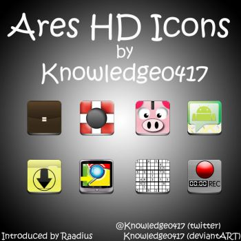 Knowledge's Ares HD Icons by Knowledge0417